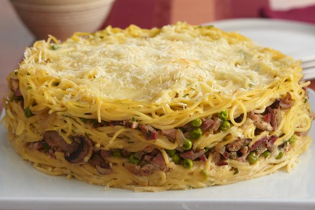 Tarte étagée aux spaghettis Image 1