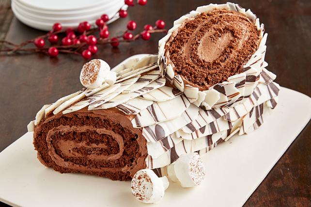 How To Make A Chocolate Yule Log Cake