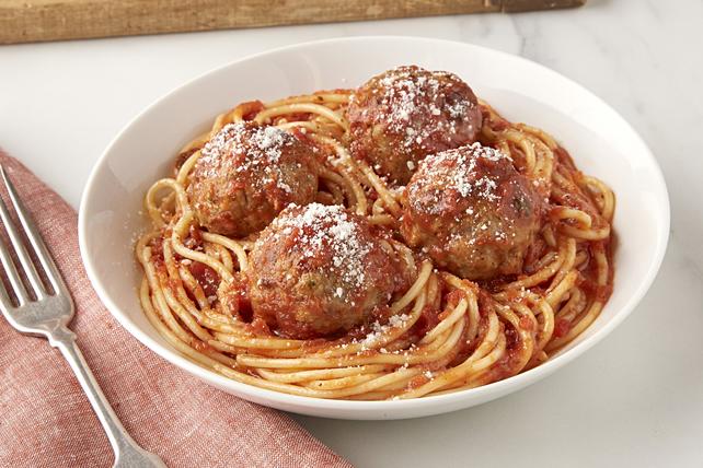 Boulettes de porc et spaghetti Image 1