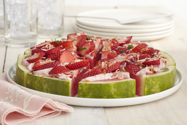 Watermelon Fruit 'Pizza' Image 1