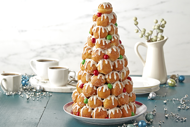 Easy Cream Puff Tower Image 1