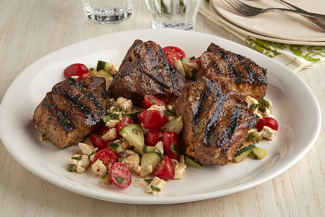 Grilled Lamb Chops with Greek Salsa Image 1