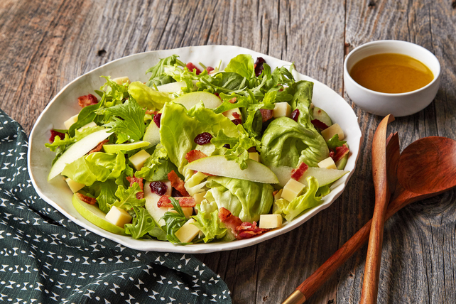 Mixed Green Salad with Apples  Image 1