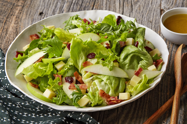 Mixed Green Salad with Apples & Cheddar Image 1