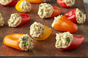 Greek Hummus Stuffed Mini Peppers