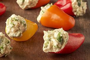 Greek Hummus Stuffed Mini Peppers