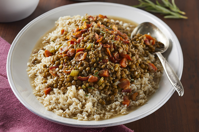 Lentils with Bacon & Rice Image 1