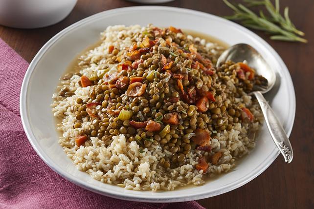 Lentilles au bacon et au riz Image 1