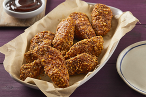 Flax- and Almond-Crusted Chicken Tenders