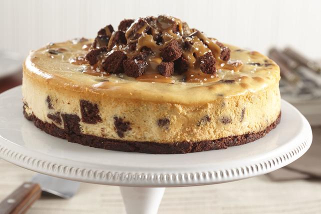 Salted-Caramel Brownie Cheesecake Image 1