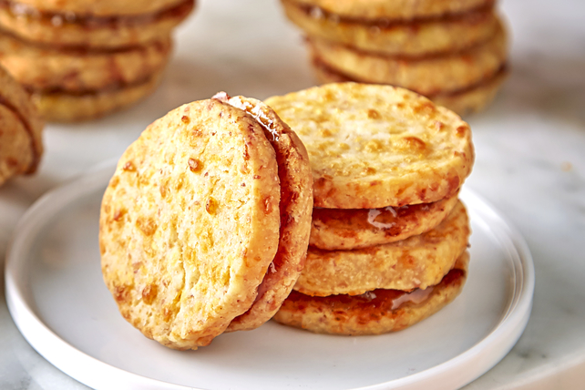 Savory Ham and Cheddar Shortbreads Image 1