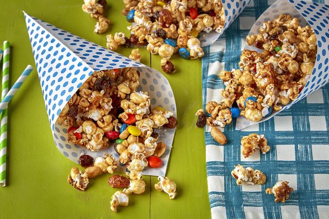 Maïs soufflé au caramel avec mélange montagnard Image 1