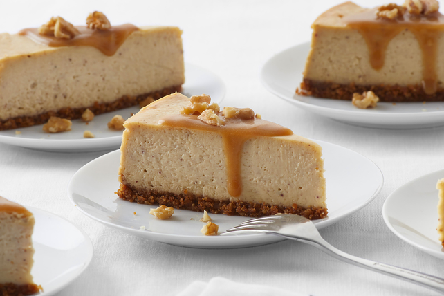 Spiced Maple-Walnut Cheesecake