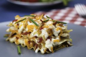 Chicken-Bacon Ranch Lasagna