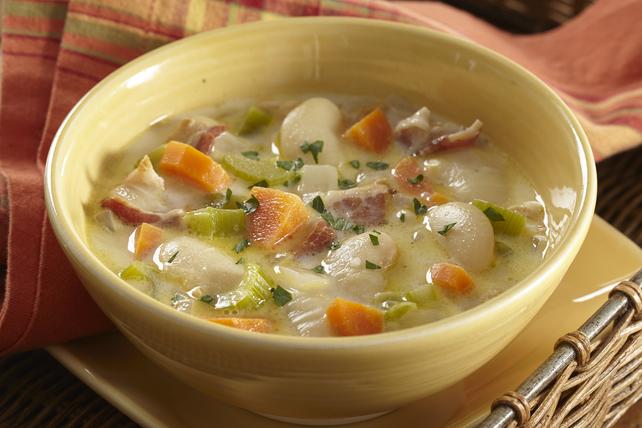 Soupe crémeuse au bacon et aux légumes Image 1