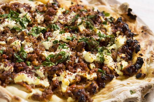 Moroccan-Spiced Beef and Feta Flatbread Image 1
