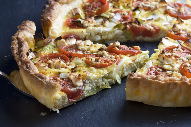 Tomato-and-Leek Brunch Tart with Feta