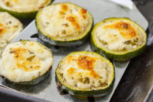 Pesto & Feta Zucchini Rounds