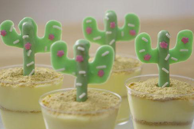 Cactus Pudding Cups Image 1