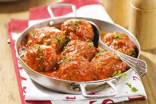 Sauce marinara veloutée aux boulettes de viande