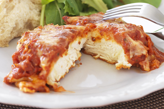 Simple Baked Chicken Parmesan with Marinara Sauce Image 1