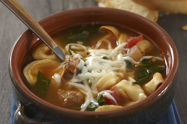 Sausage and Tortellini Soup Image 1