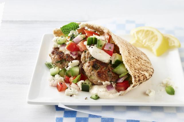 Lamb Burger Pita Sandwiches Image 1