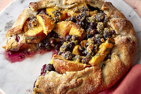 Blueberry-Peach Crostata with Basil Crust