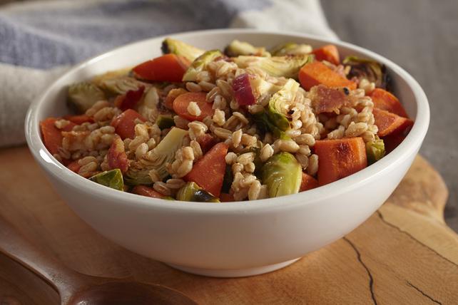 Farro & Roasted Vegetable Salad with Bacon & Dijon Image 1