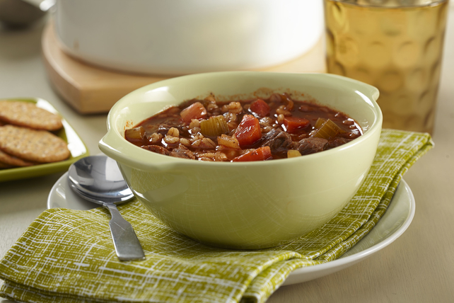 Tomato, Beef and Barley Soup Image 1