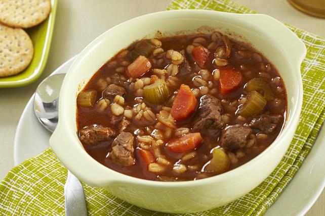 Tomato, Beef & Barley Soup Image 1