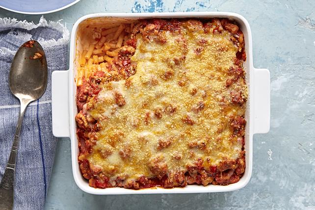 Casserole éclair de macaroni et fromage à la dinde Image 1