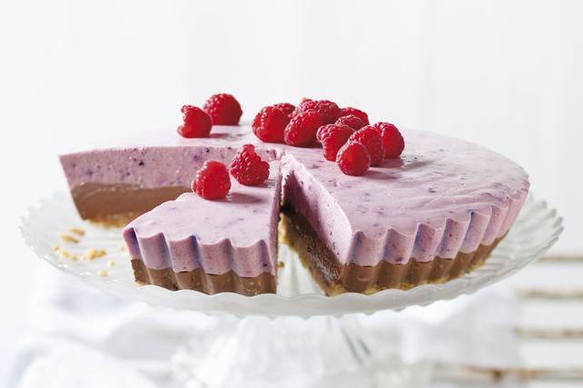 No-Bake Raspberry-Chocolate Pudding Pie Image 1