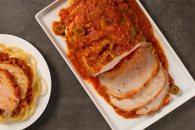 Rôti de porc avec sauce à la Puttanesca Image 1