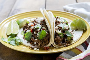 Electric Pressure Cooker Beef Barbacoa Tacos