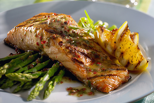 Grilled Chili-Lemon Salmon with Asparagus
