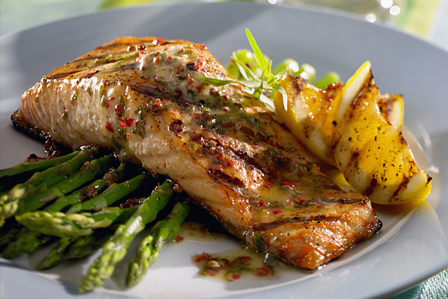 Grilled Chili-Lemon Salmon with Asparagus Image 1