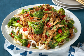 Pressure-Cooked Asian Pork and Noodles