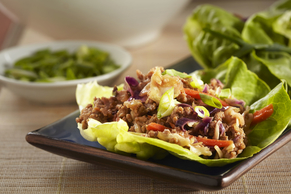 Moo Shoo Turkey Lettuce Wraps
