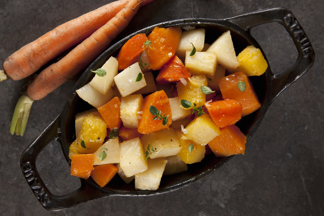 Roasted Rooted Vegetables with Tuscan Dressing Image 1