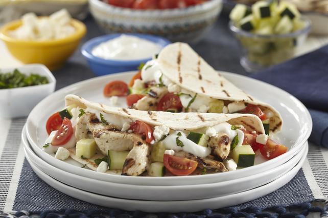 Tacos au poulet grillé à la grecque Image 1