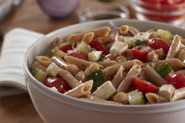 Whole Grain-Greek Pasta Salad Image 1