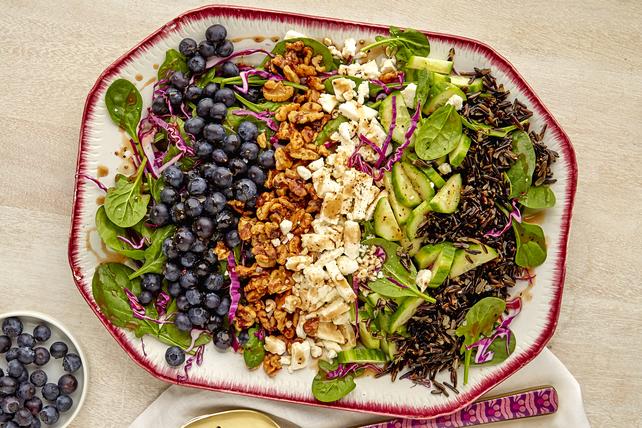 Salade d'épinards aux bleuets Image 1