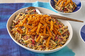 BBQ Bacon Ranch Pasta Salad