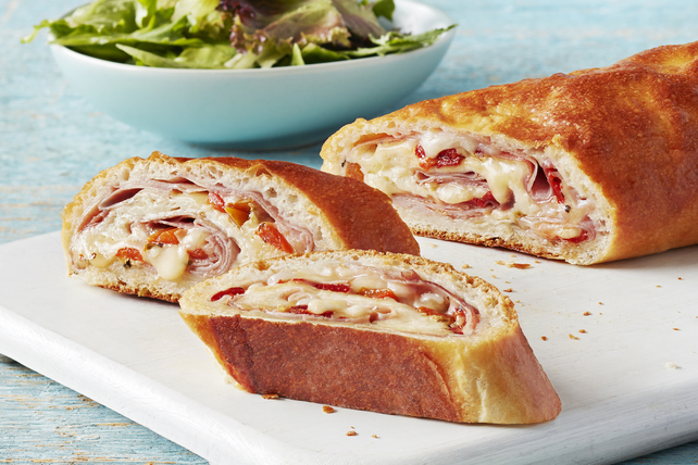Cheesy Ham and Red Pepper Stromboli Image 1