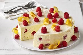 Raspberry-Lemon Chiffon Dessert