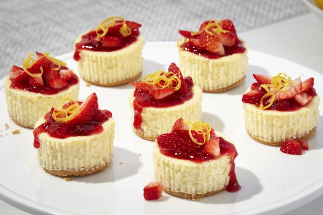 Strawberry 'Lemonade' Mini Cheesecakes Image 1