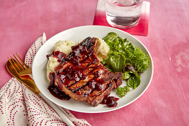 Cherry-BBQ Pork Chops Image 1