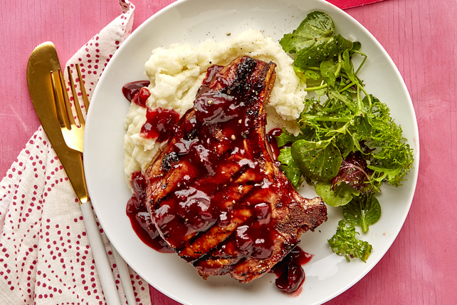 Cherry-BBQ Pork Chops Image 1