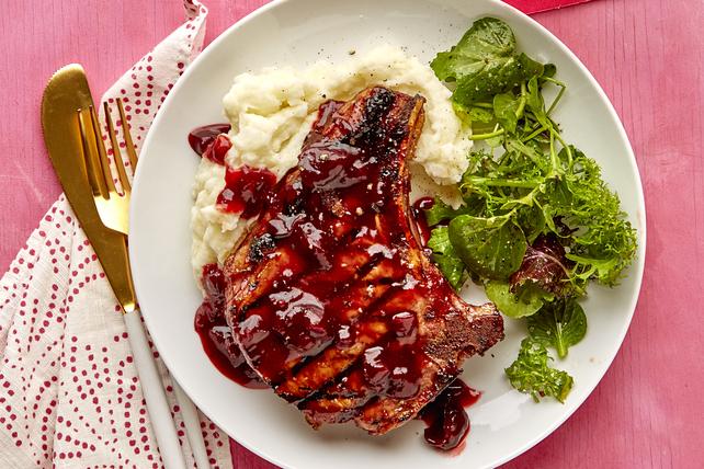 Côtelettes de porc barbecue aux cerises Image 1